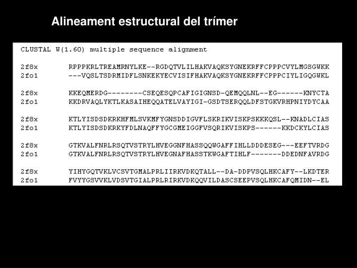 Alineament estructural del trímer