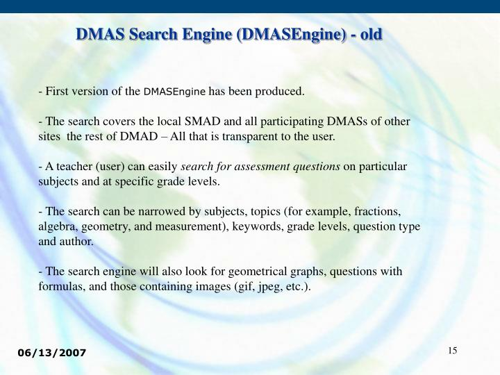 DMAS Search Engine (DMASEngine) - old