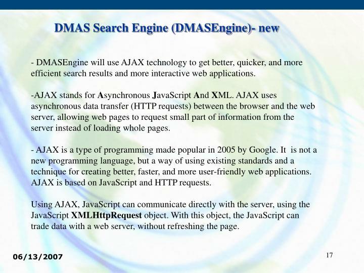 DMAS Search Engine (DMASEngine)- new