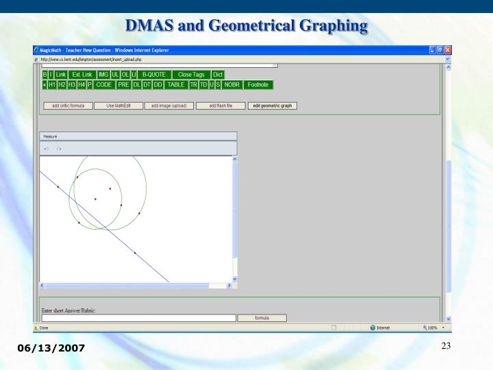 DMAS and Geometrical Graphing