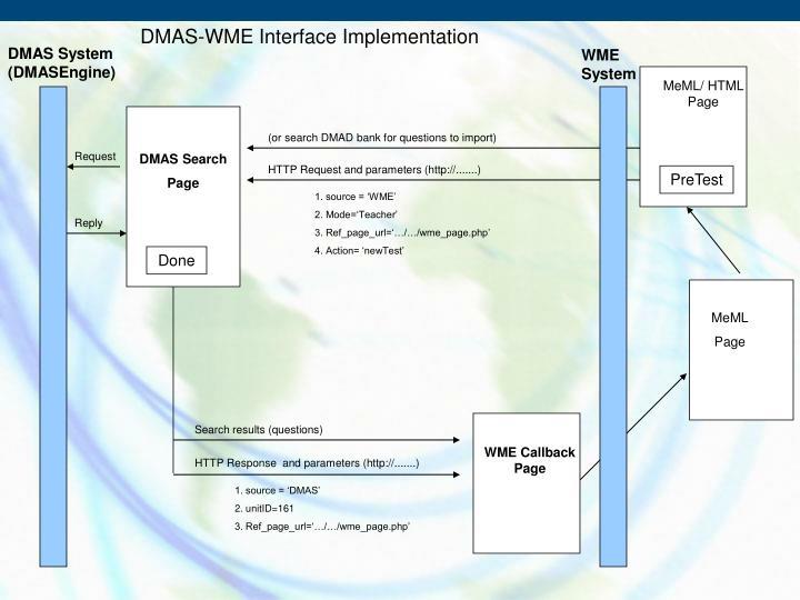 DMAS-WME Interface Implementation