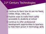 21 st century technologies