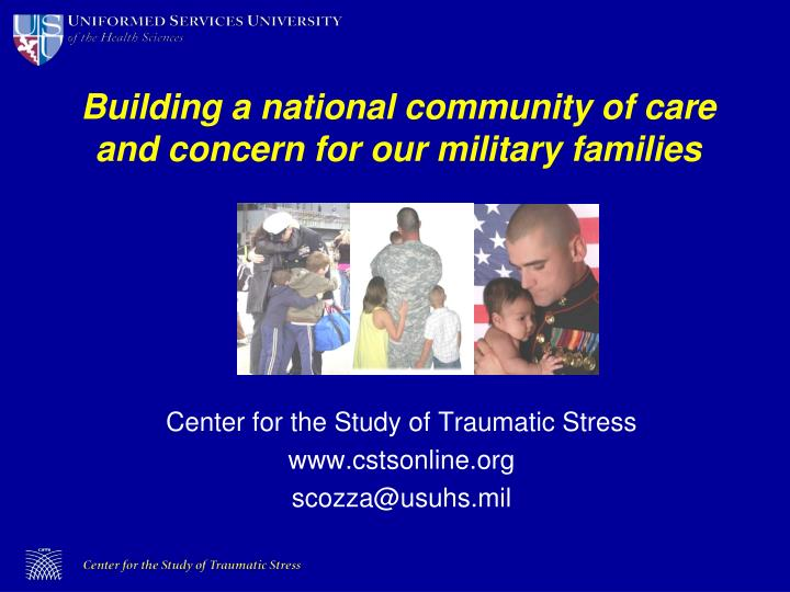 Building a national community of care and concern for our military families