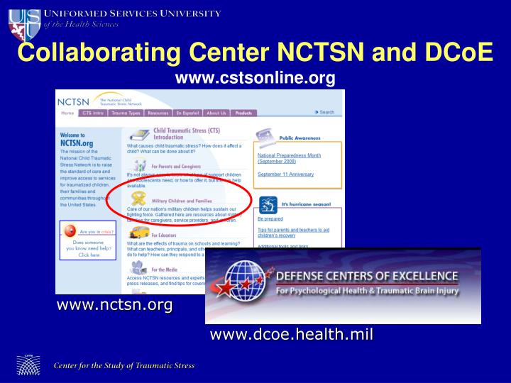 Collaborating center nctsn and dcoe www cstsonline org