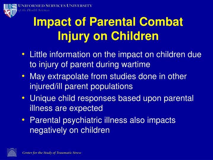 Impact of Parental Combat