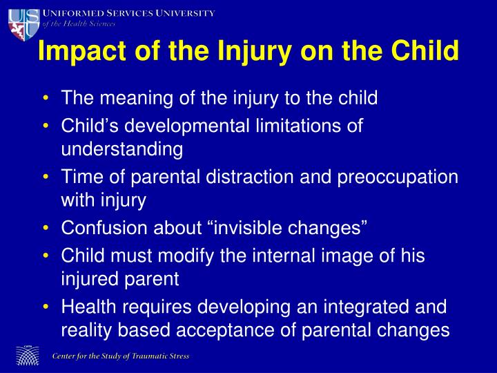 Impact of the Injury on the Child