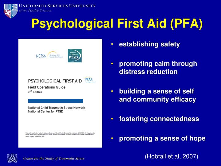Psychological First Aid (PFA)