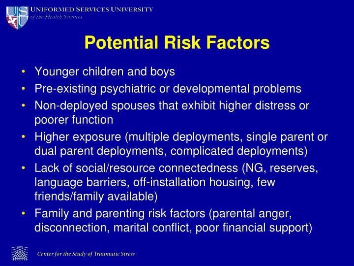 Potential Risk Factors
