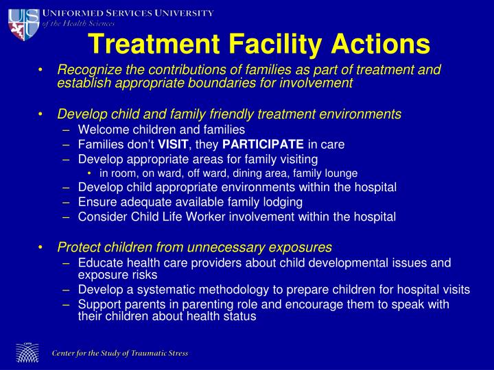 Treatment Facility Actions