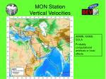 mon station vertical velocities