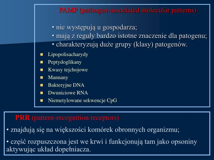 PAMP (pathogen-associated molecular patterns)