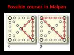 possible courses in malpan