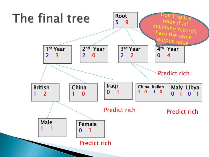 The final tree
