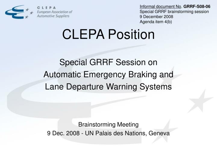 Clepa position