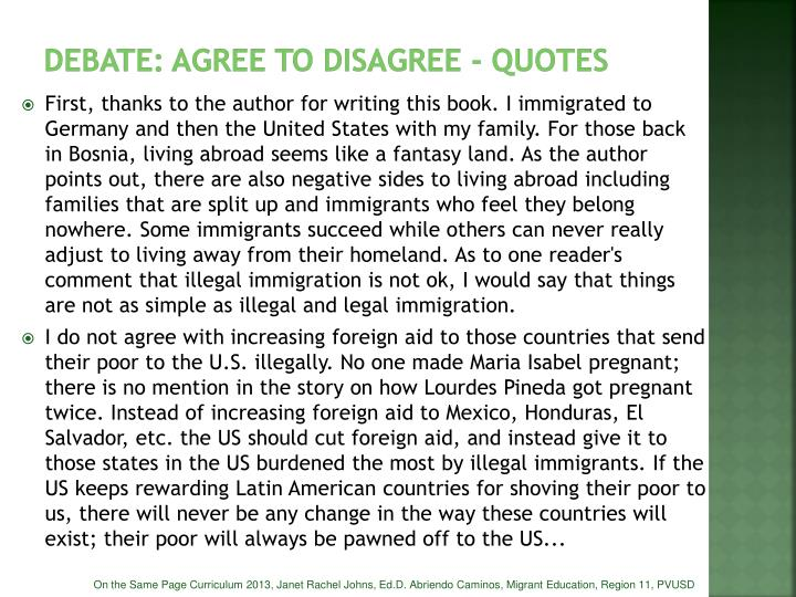 DEBATE: Agree to