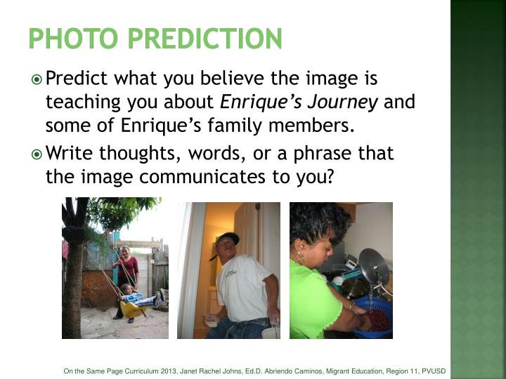Photo prediction