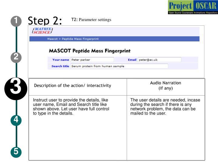 Description of the action/ interactivity