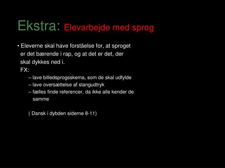 Ekstra: