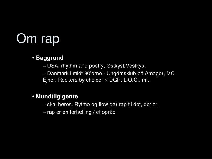 Om rap