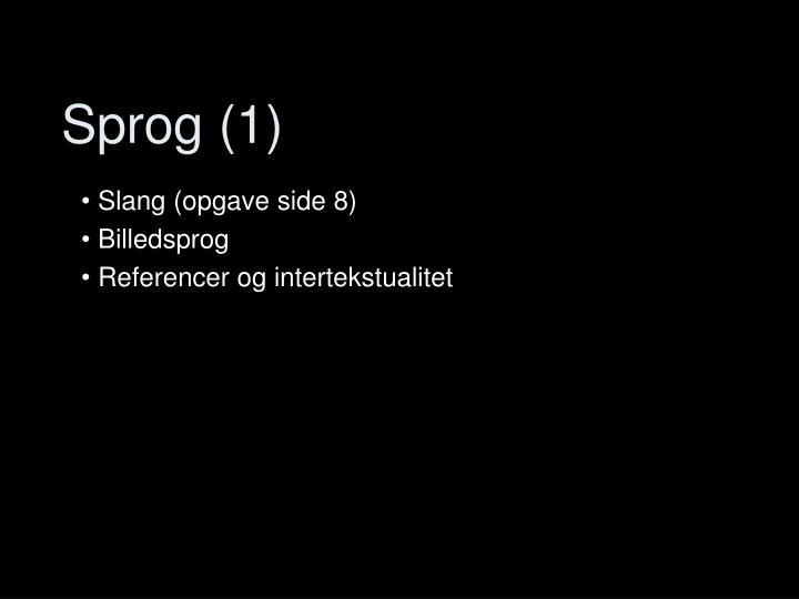 Sprog (1)