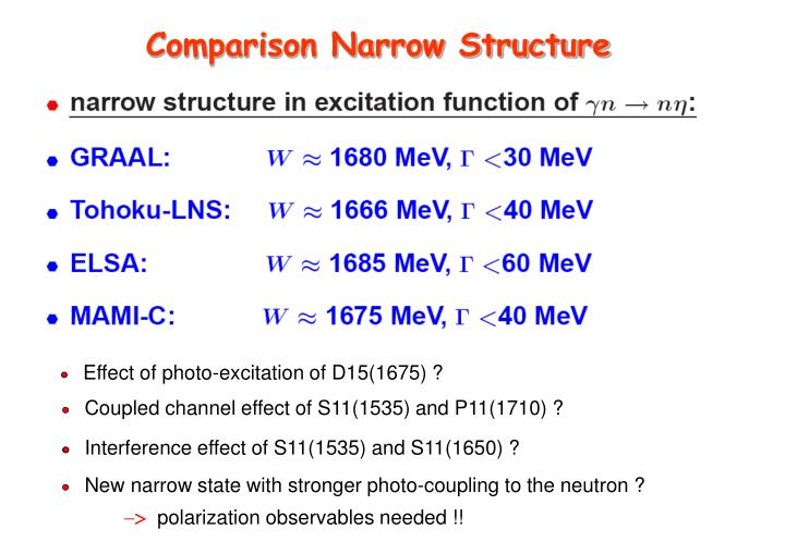 Comparison Narrow Structure