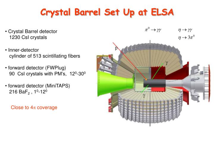 Crystal Barrel Set Up at ELSA
