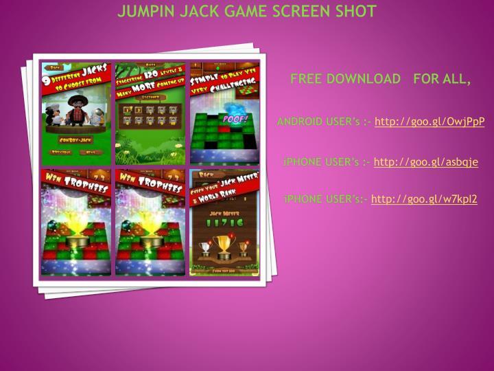 Jumpin Jack game Screen Shot