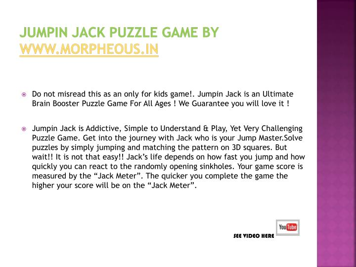 Jumpin jack puzzle game by www morpheous in