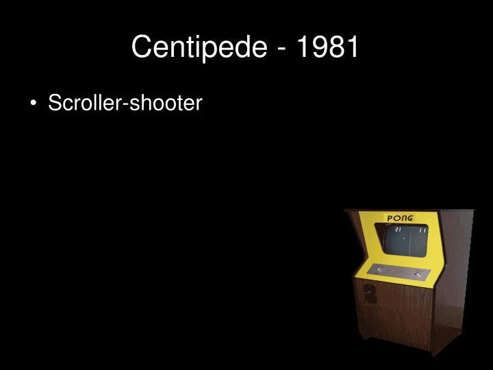 Centipede - 1981
