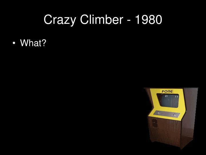 Crazy Climber - 1980
