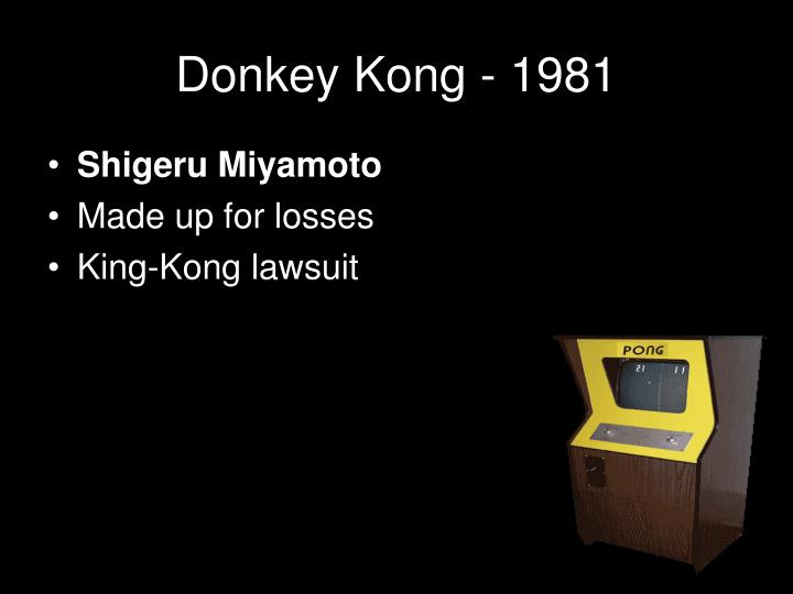 Donkey Kong - 1981