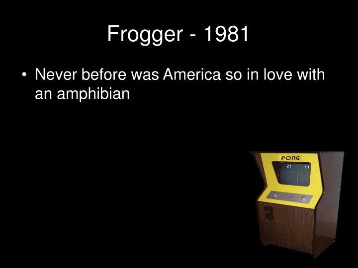 Frogger - 1981