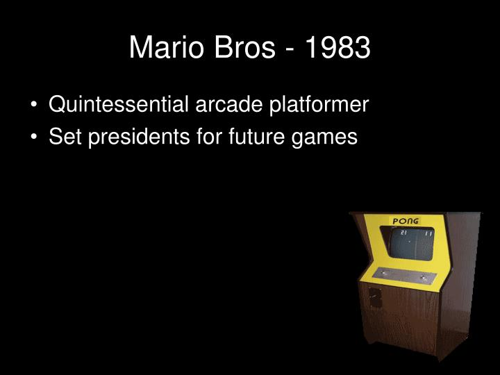 Mario Bros - 1983