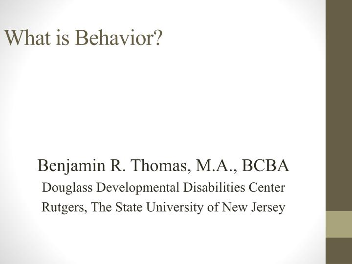 what is behavior n.