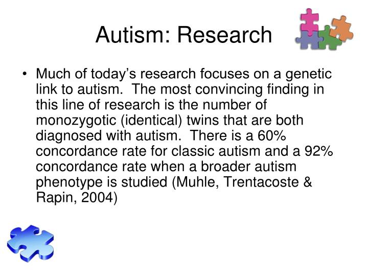 Autism: Research