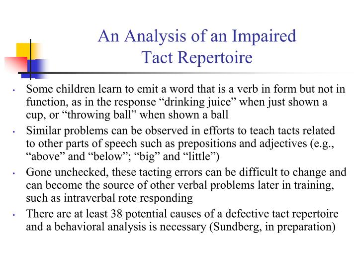 An Analysis of an Impaired