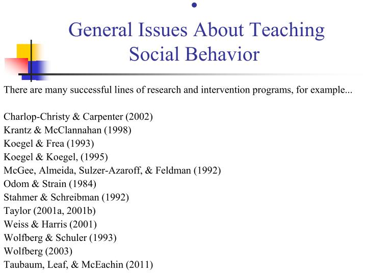General Issues About Teaching