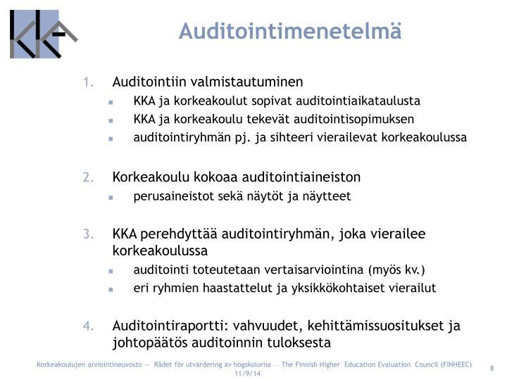 Auditointimenetelmä