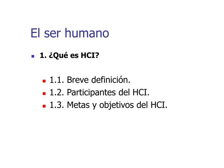 El ser humano1