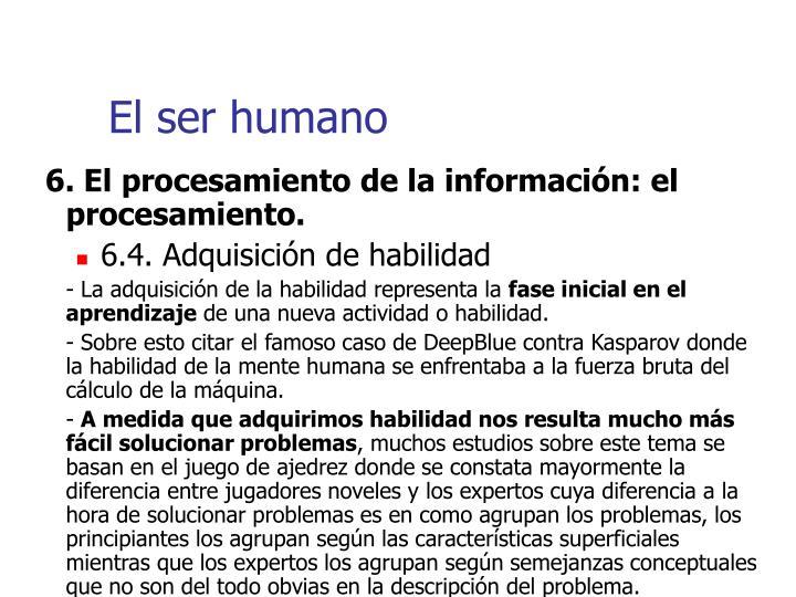 El ser humano