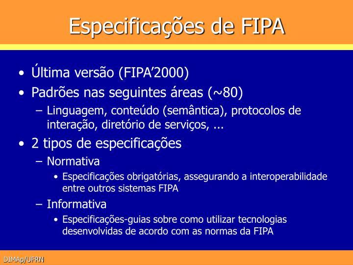 Especificações de FIPA
