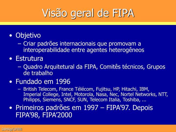 Visão geral de FIPA
