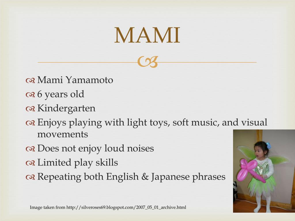 PPT - MAMI PowerPoint Presentation - ID:4243181