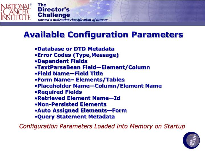 Available Configuration Parameters