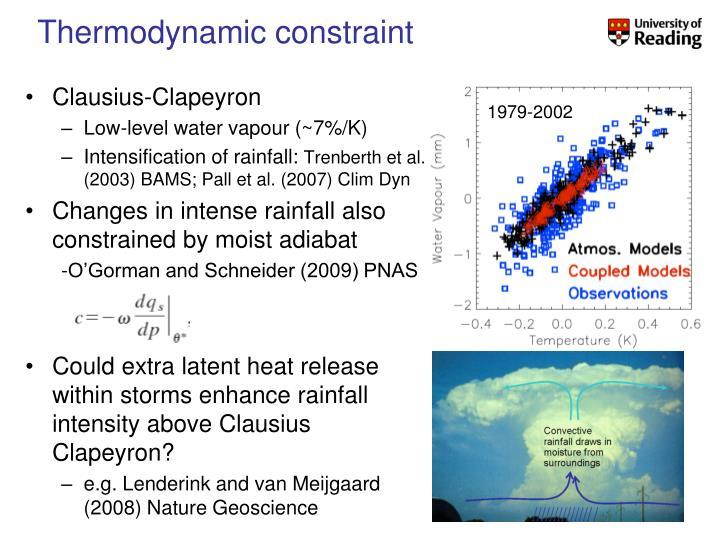 Thermodynamic constraint