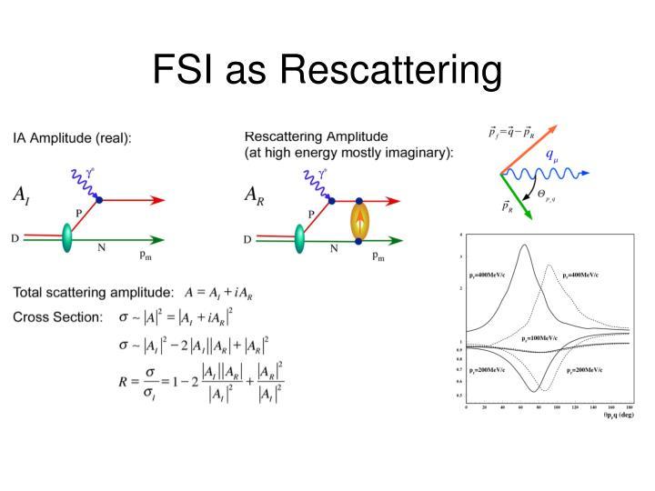 FSI as Rescattering