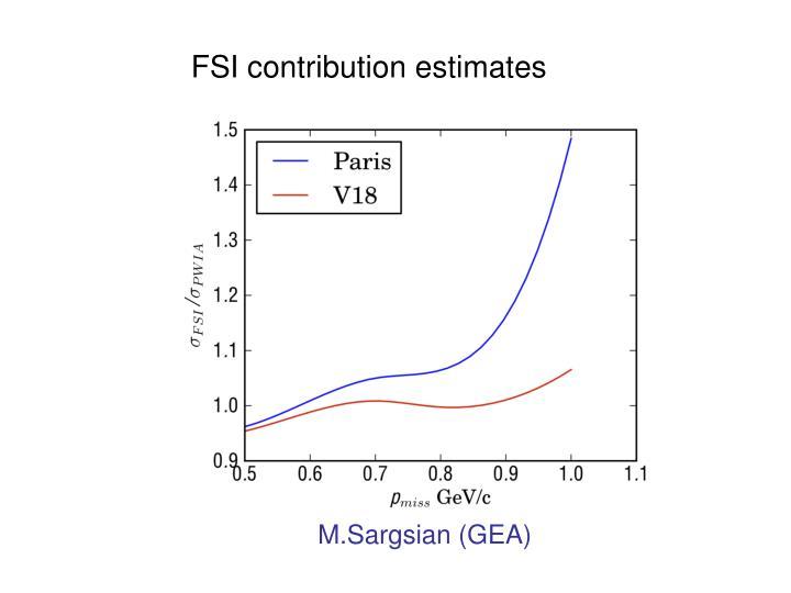 FSI contribution estimates