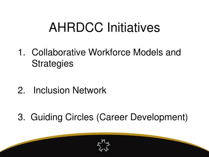 AHRDCC Initiatives