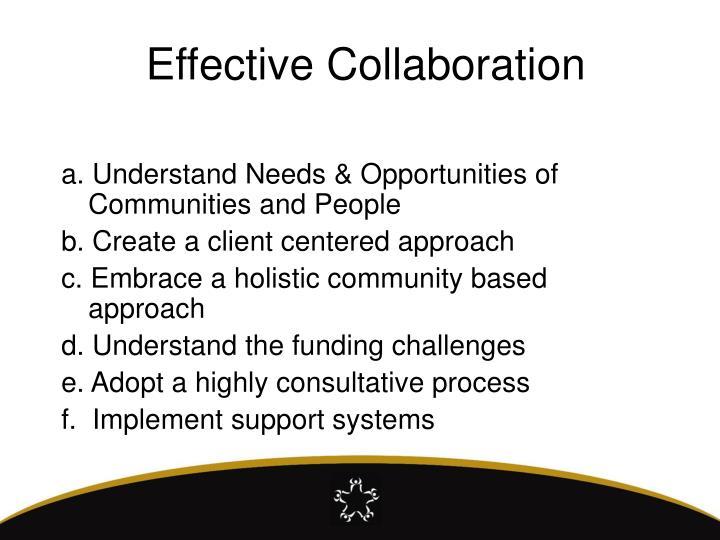 Effective Collaboration