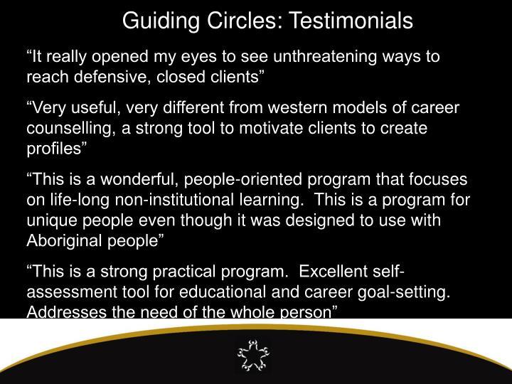 Guiding Circles: Testimonials